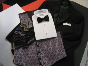 Cameron Vest and ties for Tuxedo rentals