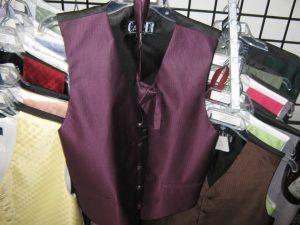 Cardi fullback vest and long tie