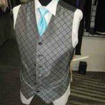 Tuxedo Checker vest with long tie