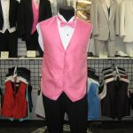 Pink vest and bow