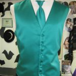 Wedding vest rental at Rose Tuxedo with matching tie