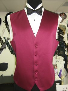 Vest and bow tie