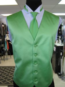 Lime Green vest and tie by Rose Tuxedo