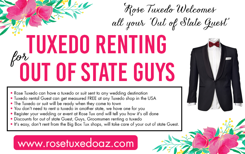 Tuxedo rental for out of state guys