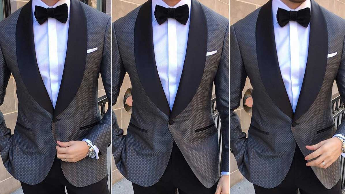 blue tuxedos and gray tuxedos are rocking the event circuit